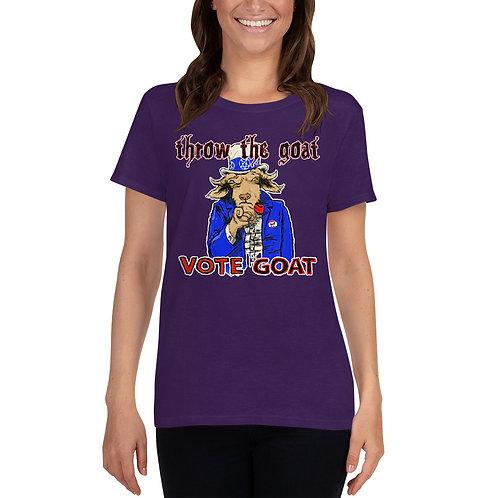"""""""Vote Goat Sam"""" Women's short sleeve t-shirt"""