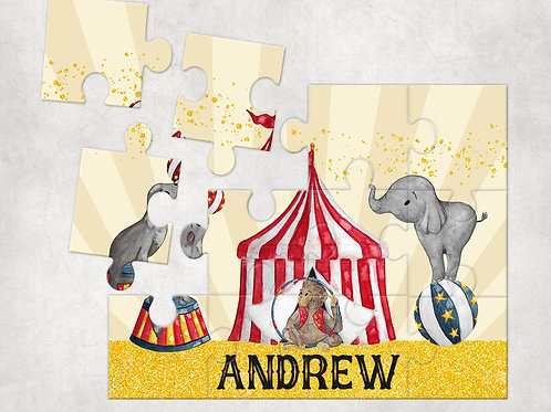 Personalised Children's Circus Jigsaw Puzzle - Perfect Gift For Children
