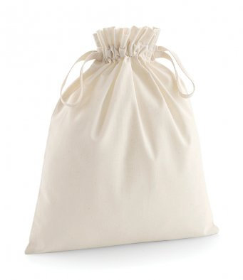 W118 Westford Mill Organic Cotton Drawcord Bag