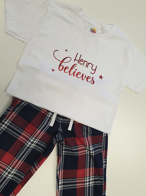 Personalised Children's Christmas Pyjamas Perfect For Xmas Eve