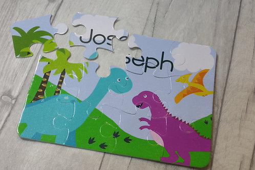 Personalised Dinosaur Children's Jigsaw Puzzle