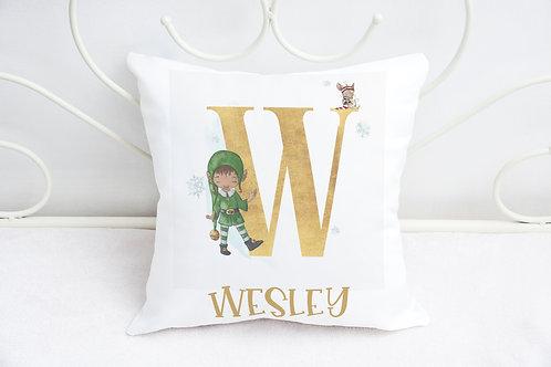 Christmas Elf Cushion - Personalise Cushion - Living Room Cushion - Bedroom Deco