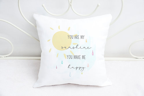 You Are My Sunshine Cushion - Nursery Cushion - Bedroom Decor - Cushion Cover