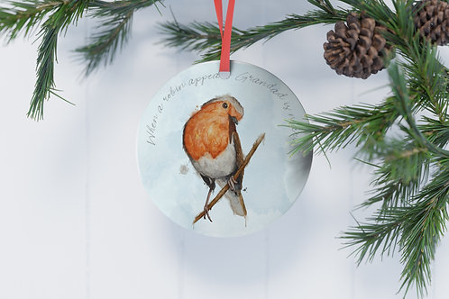 Personalised Christmas Tree Decoration When Robins Appear Loved Ones Are Near