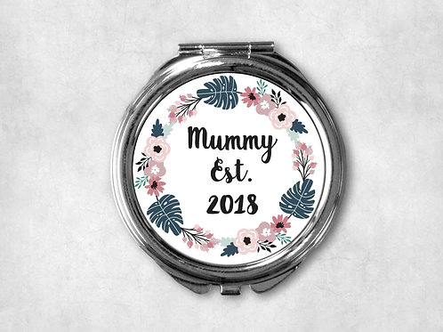 New Mummy First Time Mummy Est. 2018 Compact Mirror