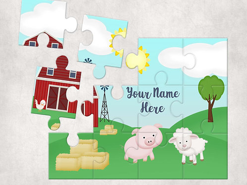 Children's Farm Yard Animal Jigsaw Puzzle