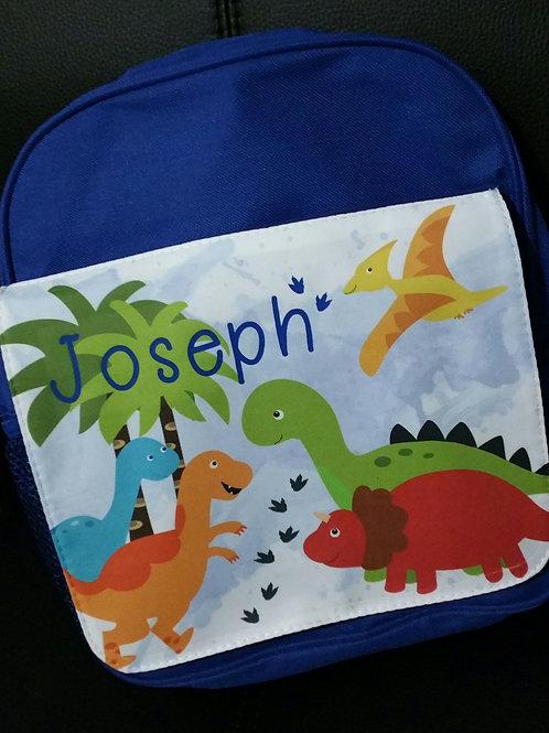 Personalised Dinosaur Backpack Bag