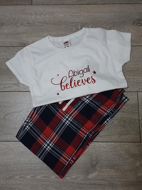 Personalised Mens Christmas Pyjamas Perfect For Xmas Eve