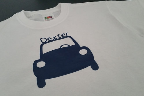 Boy's Personalised Car T-Shirt
