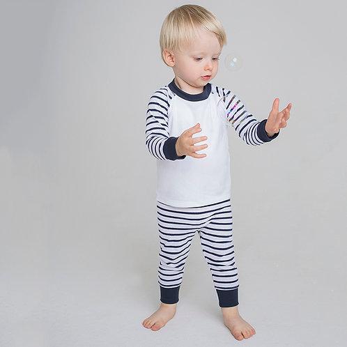 Larkwood Children's Stripped Pyjamas (LW72T)