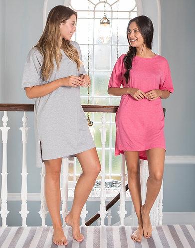 Comfy Co Ladies Oversized Sleepy T-Shirt Pyjama's / PJ's (CC046)