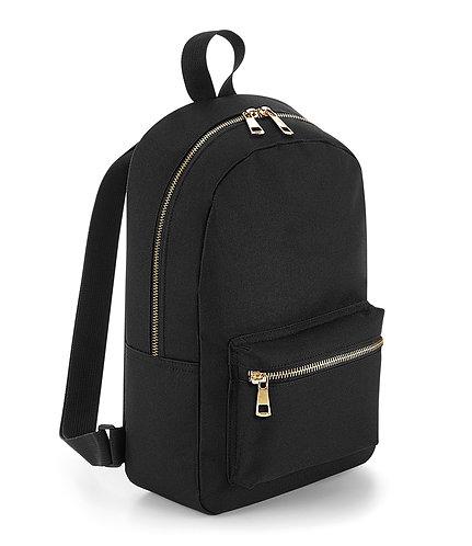 BG233 BagBase Metallic Zip Mini Backpack