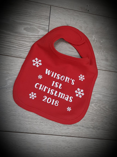 My First Christmas Bib Perfect For Babies 1st Christmas 2019