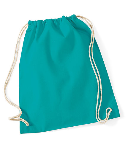 CLEARANCE - Westford Mill Cotton Gymsac Bag (W110)