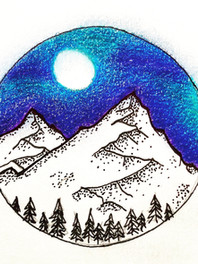 Mountains Colored Pencil