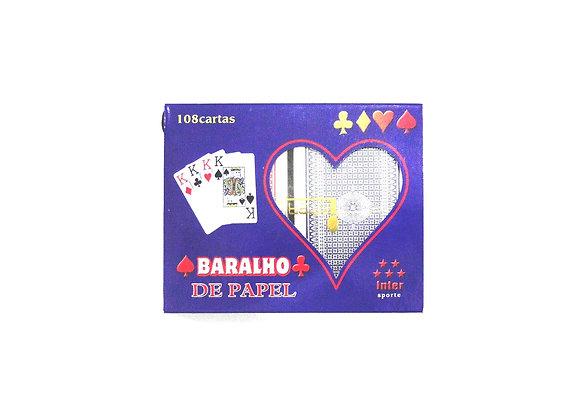 BARALHO DE PAPEL C/2 JOGOS (HT63802)