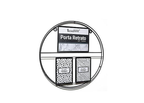 Porta retrato decorativo de metal 2- 10x15cm 1- 15x20cm
