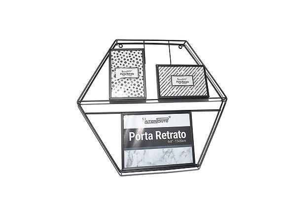 Porta retrato decorativo de metal 2- 10x15cm 1- 15x20cm ( HP57009 )