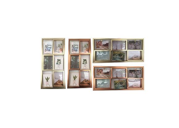 Porta retrato de plástico c/ porta foto - 10x15cm ( HP63515 )
