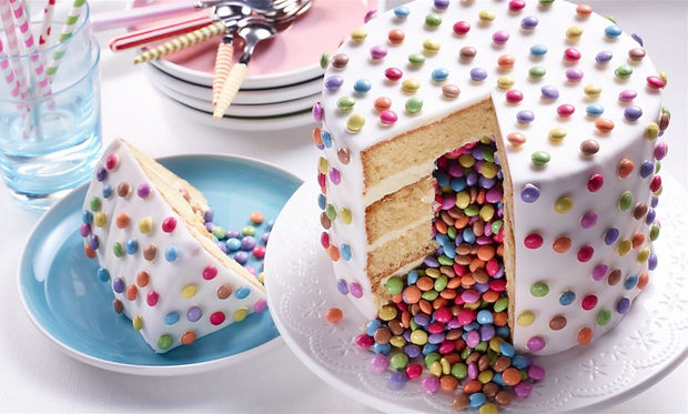 easy party cakes with smarties