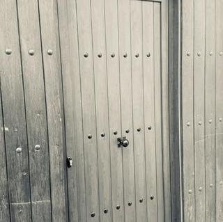 Puerta de aluminio Rustica