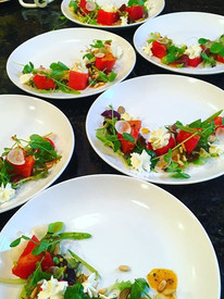 #tbt to a summer watermelon salad for _shuapad and family with basil, snap peas, radish,  pine nuts, and mascarpone.jpg
