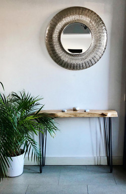 WANEY EDGE HAIRPIN CONSOLE TABLE