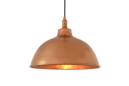 BOSTON PENDANT LAMP SHADE DOME HAMMERED COPPER