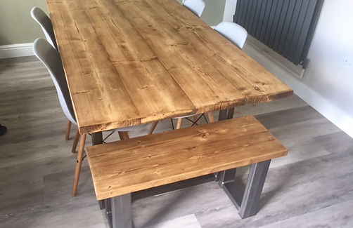 Bespoke industrial dining table