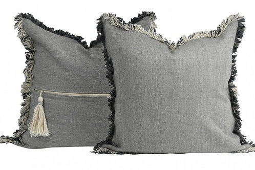 HEIDI CUSHION  GREY