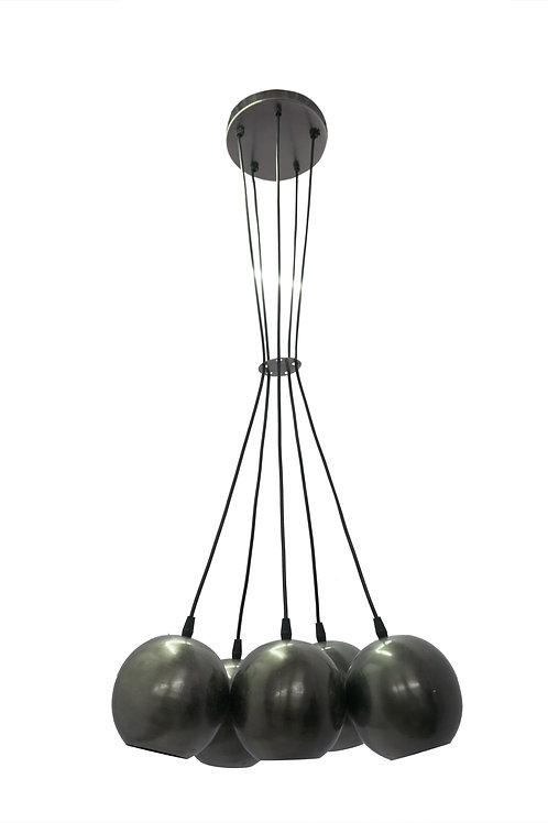 PHILADELPHIA CLUSTER OF 5 SHADES PENDANT LAMP BALL PLAIN