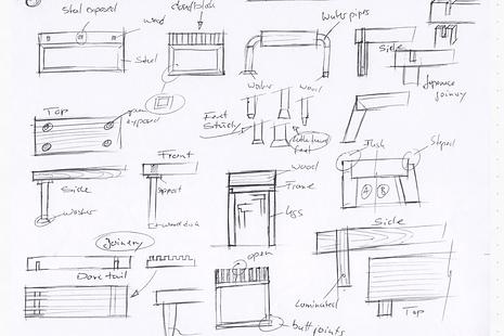 Sketch of furniture design