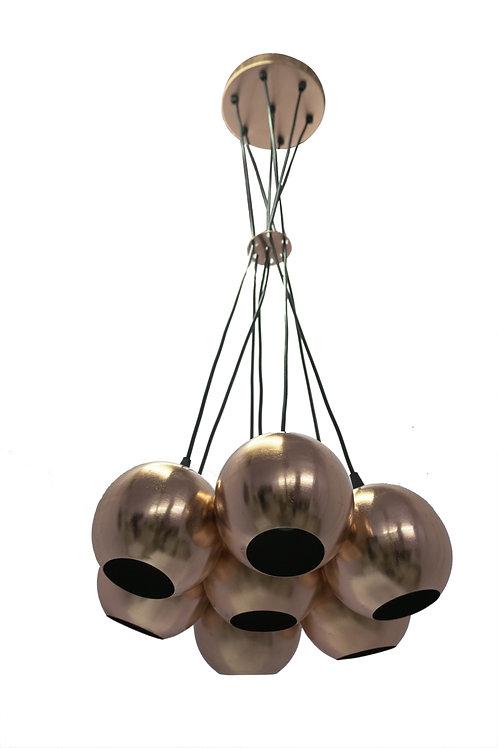 PHILADELPHIA CLUSTER OF 7 SHADES PENDANT LAMP BALL PLAIN