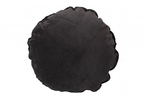 CYGNET LACE ROUND CUSHION CHARCOAL