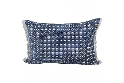 BUTTERFLY LACE CUSHION DENIM