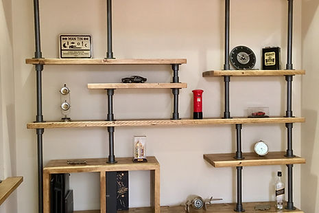 Bespoke industrial shelving unit-made to measure