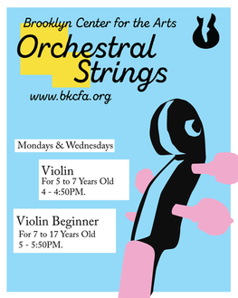 Orchestral Strings Class Promotional Flyer