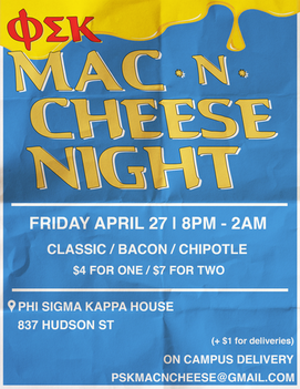 Mac n Cheese Night Event Flyer