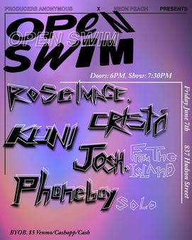 Open Swim Show Flyer