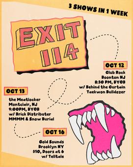 Exit 114 Tour Poster