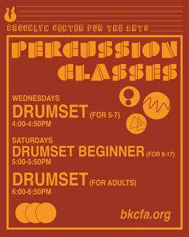 Percussion Classes Promotional Flyer