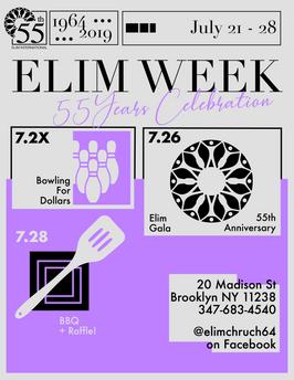 Elim Week Poster