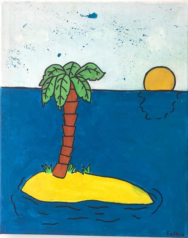 Sonnenaufgang auf der einsamen Insel
