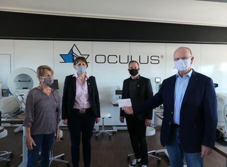 OCULUS spendet 4.000 EUR