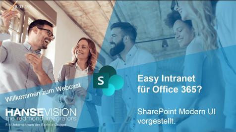 Sharepoint Modern UI: Easy Intranet für Office 365?