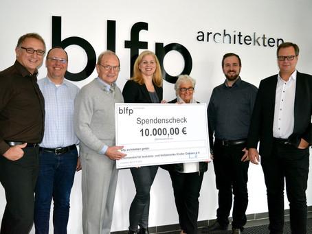 blfp architekten spenden über 10.000 Euro