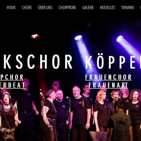 Neue Webseite für den Volkschor Köppern