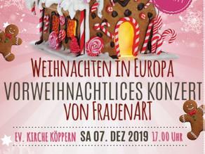 Aquantor sponsort Plakate für Weihnachtskonzerte