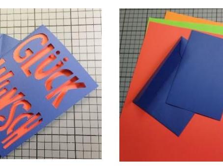 2 Farben-Glückwunschkarte