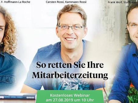 Webinar-Tipp: Mitarbeiterzeitung!